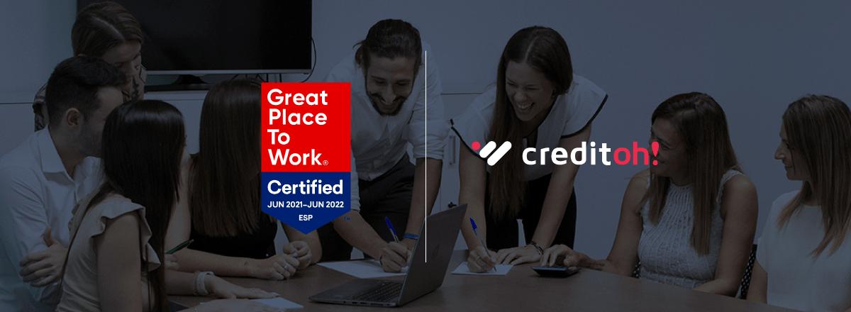 En Creditoh! obtenemos la certificación Great Place to Work®